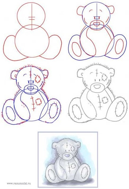 How to draw a teddy. He's my favorite Taddy Teddy
