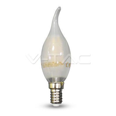 2,52€ Lampadina LED - 4W Filament E14 Opaco Candela fiamma 2700K  SKU: 4477 | VT: VT-1937   Lampadina LED - 4W Filament E14 Opaco Candela fiamma 4000K  SKU: 4478 | VT: VT-1937    Lampadina LED - 4W Filament E14 Opaco Candela fiamma 6400K  SKU: 4479 | VT: VT-1937