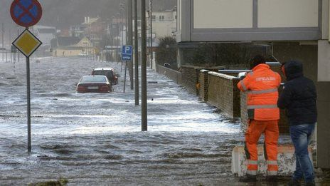Deadly storm and tidal surge batter northern Europe