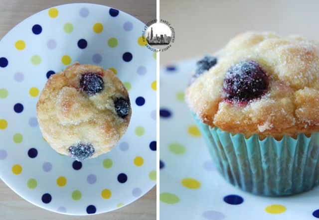 Blueberry muffins with a touch of lemon - YUM!