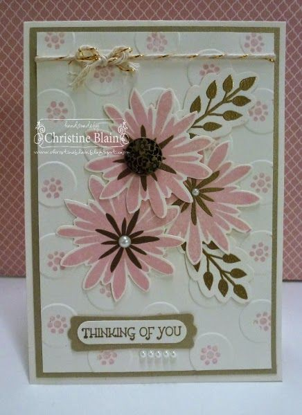 Stampin' Up!'S Flower Patch In Pink And Gold