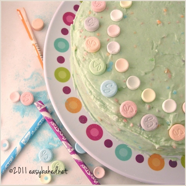 Sweet tart and pixie stix cake: Stix Cakes, Leftover Halloween, Recipe, Halloween Candy, Sweet Tarts, Sticks Cakes, Pixy Stix, Pixie Sticks, Pixie Stix