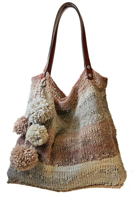 This is actually a knitted bag but I like it so might try to find a way to crochet it.