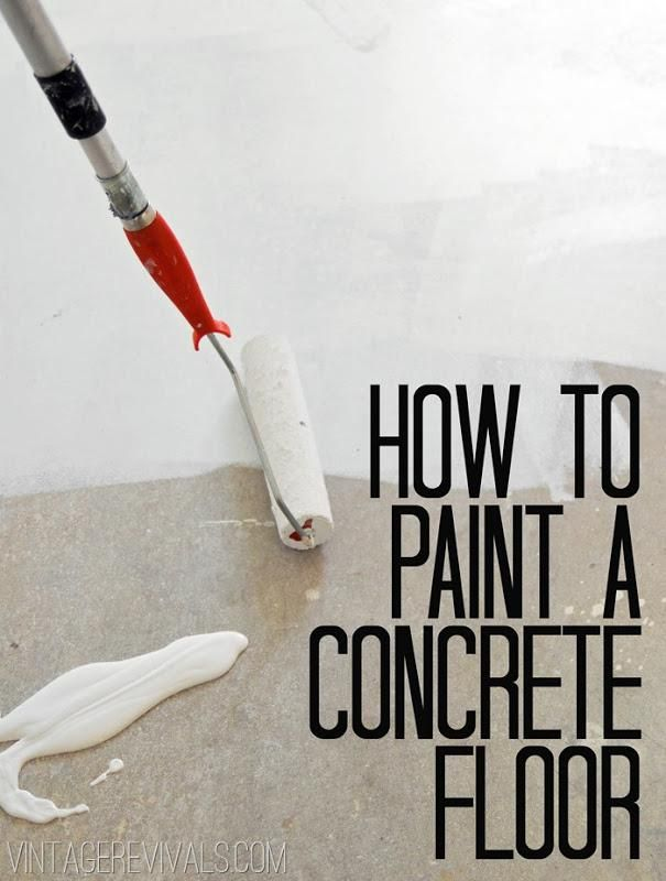 How to paint concrete floors - tips from @Mandi Smith T Interiors Smith T Interiors Smith T Interiors Gubler !