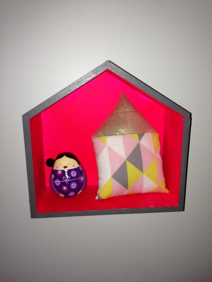 Coussin maison géométrique by mimosette