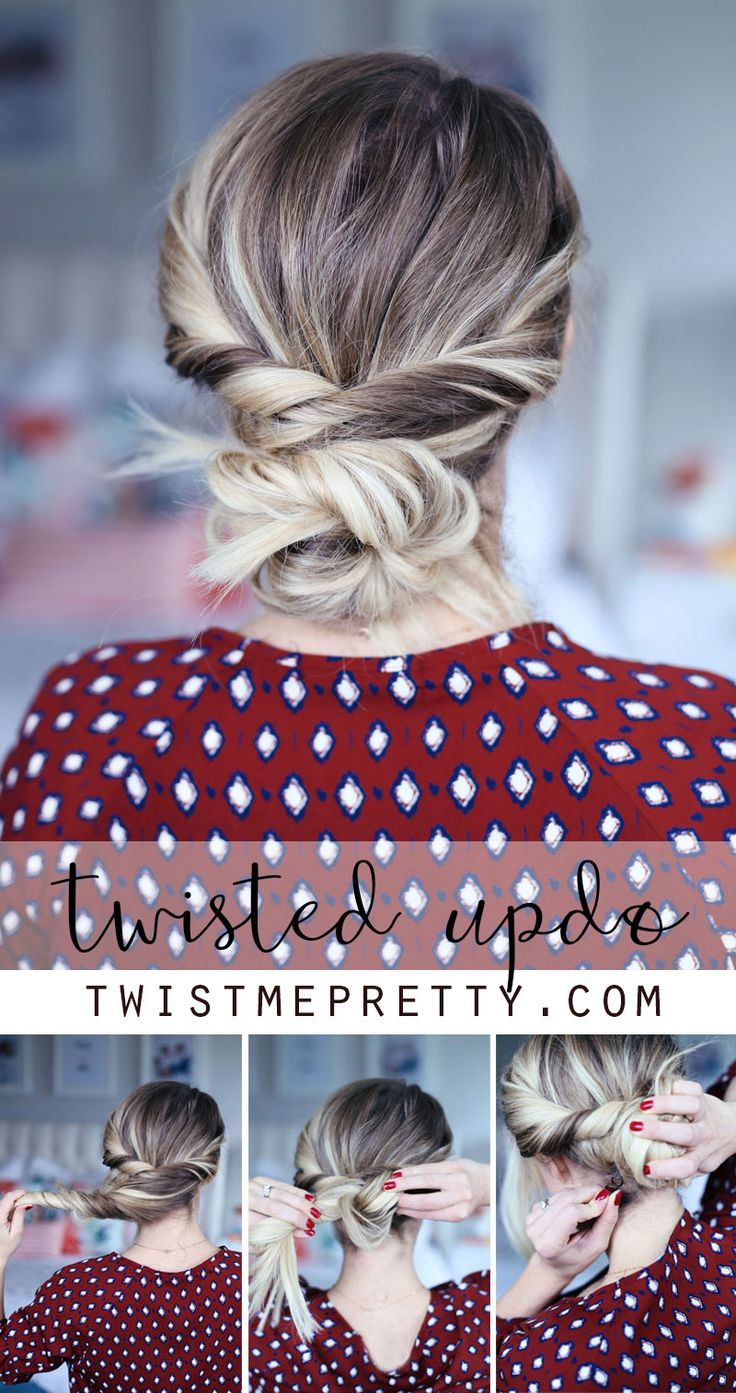 Use a spin pin to create a Twisted Up-do. It's easy! Learn how at Twist Me Pretty.