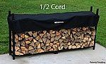 The Woodhaven 8-ft Firewood Log Rack - Woodhaven Official Site by Woodhaven. $199.00. Made in the USA. Black Powder Coat Finish. Log Capacity 1/2 Cord. Made from Mild Steel w/Stainless Steel Hardware. Lifetime Warranty. The Woodhaven Firewood Rack has a Black Powder Coat finish. Woodhaven firewood racks are made in the USA from 16 gauge steel. Unlike the majority of other firewood racks the Woodhaven is built to provide a lifetime of service. From the precision d...