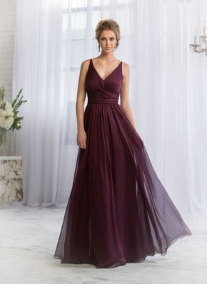 Winter bridesmaid dress from Belsoie