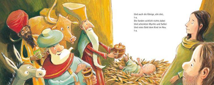 Weihnachtslied vom Eselchen, James Krüss, Illust.v. Günther Jakobs