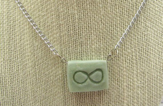 Polymer Clay Infinity Necklace by TangoTLH on Etsy