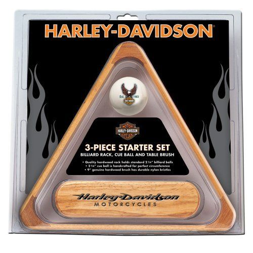 Harley-Davidson® 3-Piece Billiard Starter Set by Harley-Davidson. $34.18. H-D® 3-pc. Billiards Starter Set includes a Rack, Cue Ball, and Table Brush.. Save 14% Off!