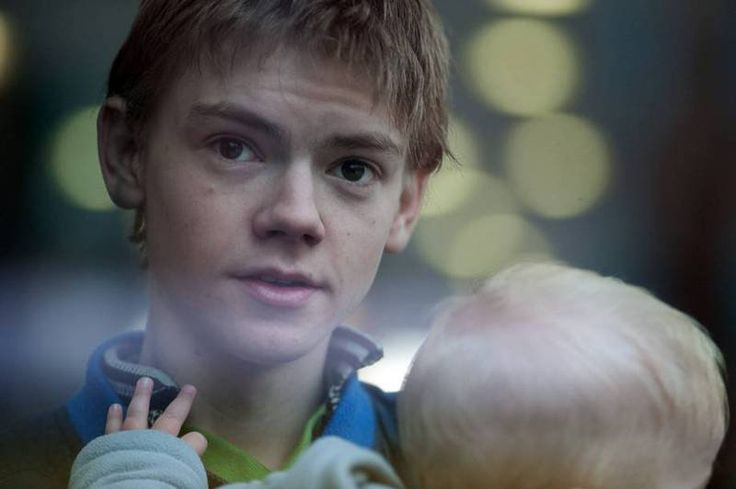 Imagine this is my husband, Thomas Sangster, and he has our baby boy! Plus we are at the park!