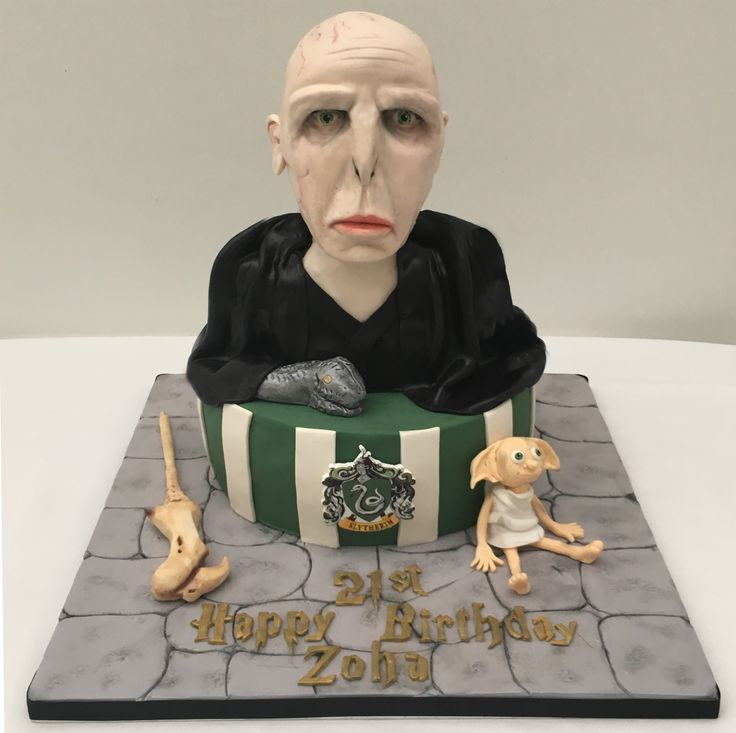 Harry Potter, Lord Voldemort Cake with Dobby.