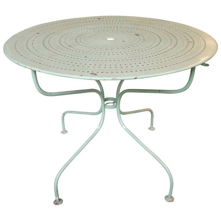French Metal Garden Table   From a unique collection of antique and modern patio and garden furniture at https://www.1stdibs.com/furniture/building-garden/garden-furniture/