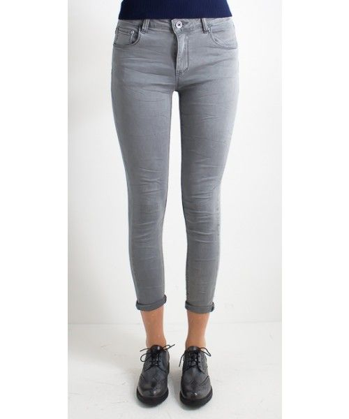 Jeans grigio chiaro Skinny in cotone - You Decide