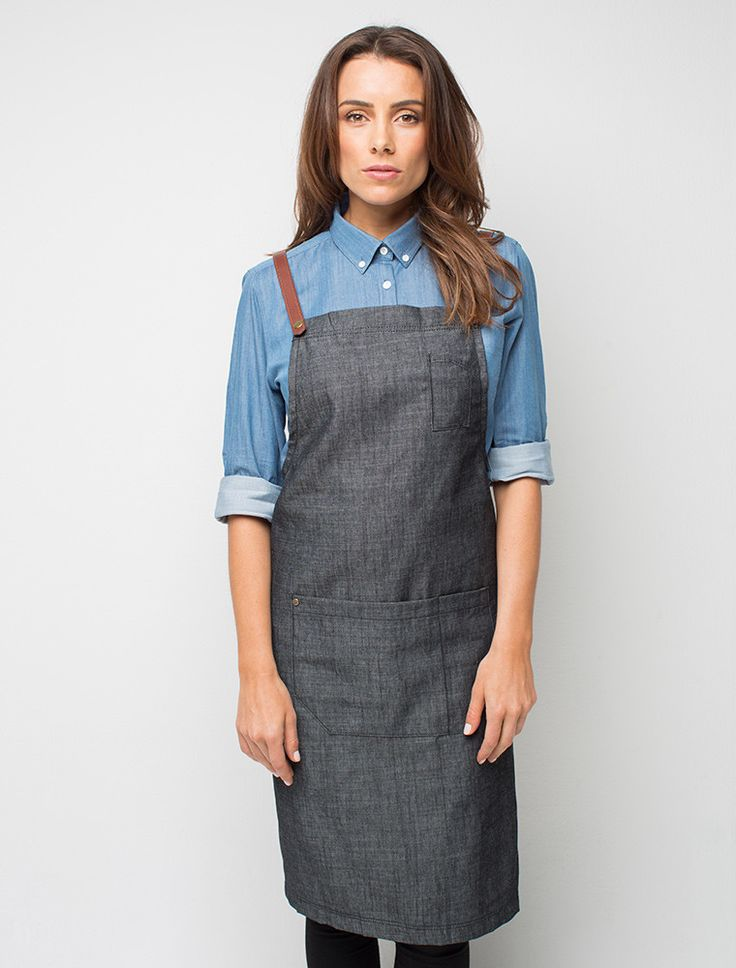 Cargo Crew - Henry Denim Bib Apron - Charcoal - Online Uniform Shop Australia