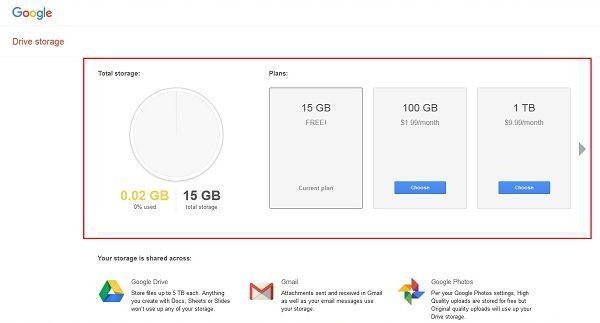 Google Drive Storage Limit Google Drive Space Google Storage Pricing Drive Storage Google Drive Storage Driving