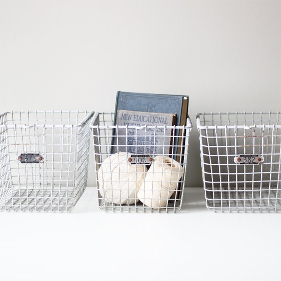 Love this type of storage bin - Home Goods always has bins like this for a great price.