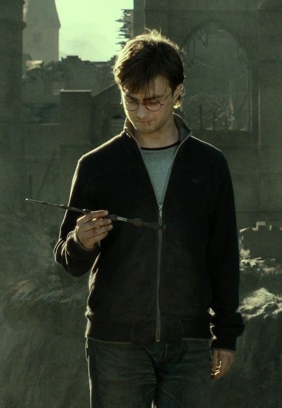 Day 24 Harry Potter Challenge: I really wish Harry would have used the Elder wand to fix his wand. It would show those who haven't read the books (shame on them) that he truly is the master of the hallows.