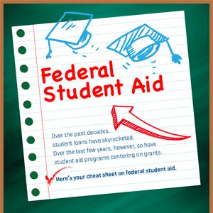 Over the last few years, however, so have student aid programs centering on grants. Here's your cheat sheet on federal student aid.