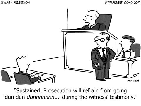 Lawyers in the courtroom