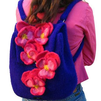 Girly Backpacks with Pansies - #117 by Noni