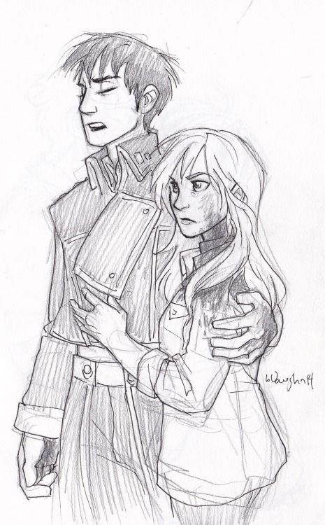 Roy and Riza   by Burdge   Fullmetal Alchemist Brotherhood   FMAB