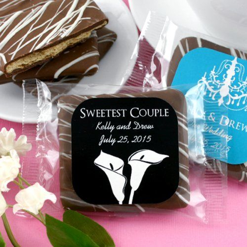 Personalized Silhouette Collection Chocolate Covered Graham Cracker