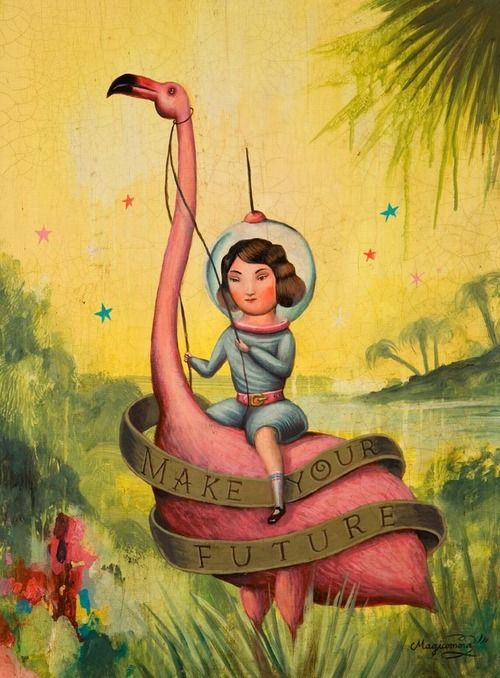 Flamingo art...love the weird and tacky!!