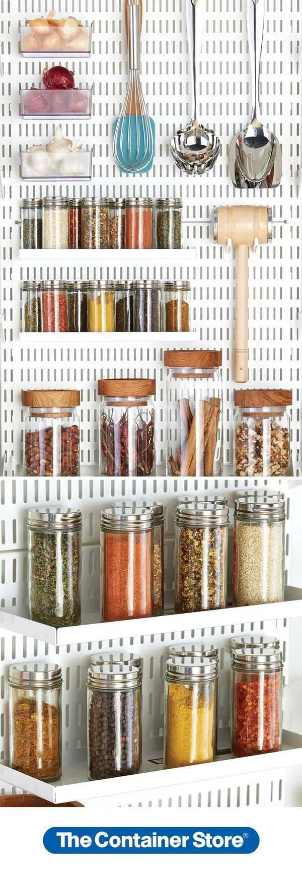 Design Elfa Pantry 55 best elfa pantry images on pinterest container store custom we used our utility boards in the to organize