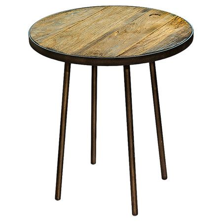 Full of industrial appeal, this wood and metal side table is wonderful for serving nibbles to guests or displaying a statement lamp beside your cosy reading ...