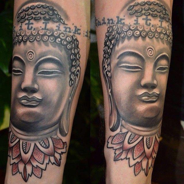 Tatouage bouddha tibétain