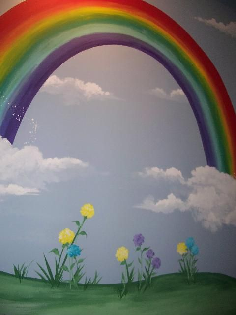 17 best ideas about rainbow girls rooms on pinterest for Child mural bedroom