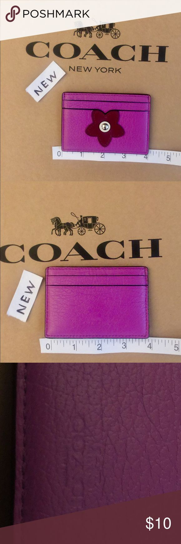 NEW Coach Credit Card Holder NEW Coach Credit Card holder. No MSRP Tag. Unused. …