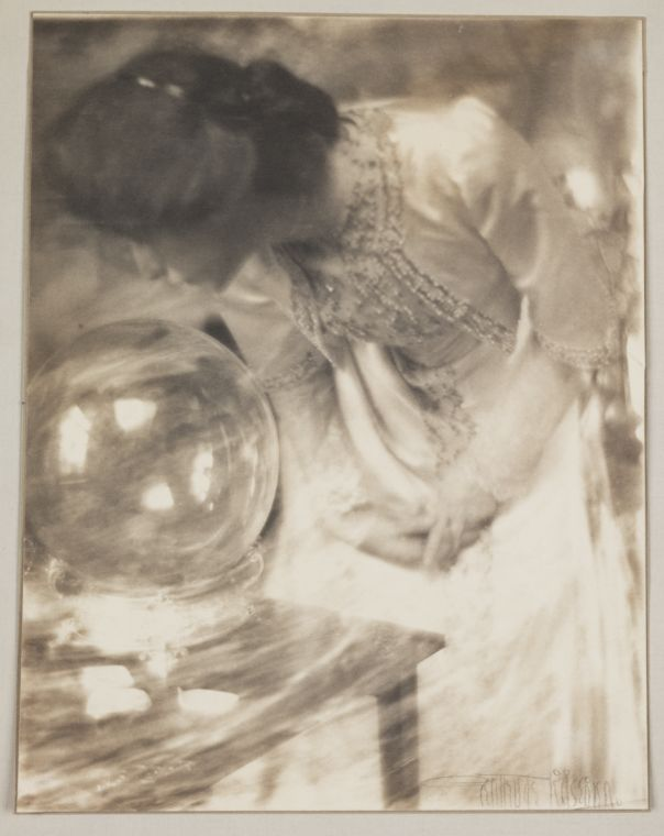 The magic crystal/ the crystal gazer - Gertrude Käsebier (1852-1934) - a gorgeous vintage photo.