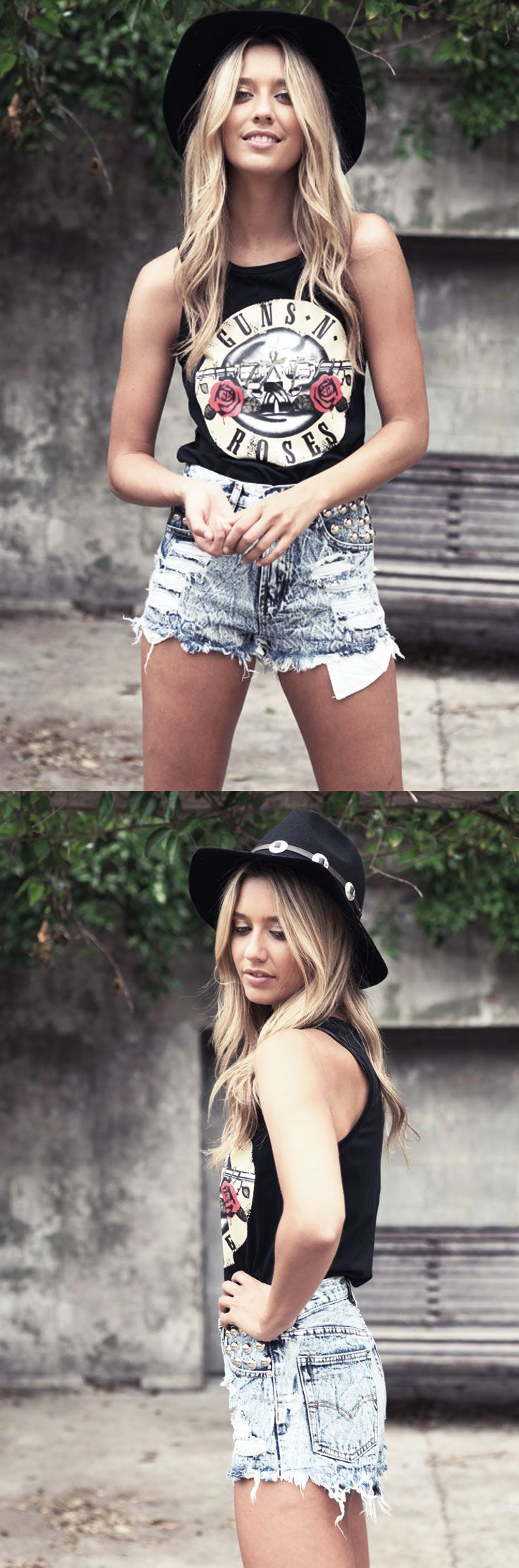 Shop badass soft grunge and 90s inspired boyfriend shorts and tank tops from RebelsMarket.