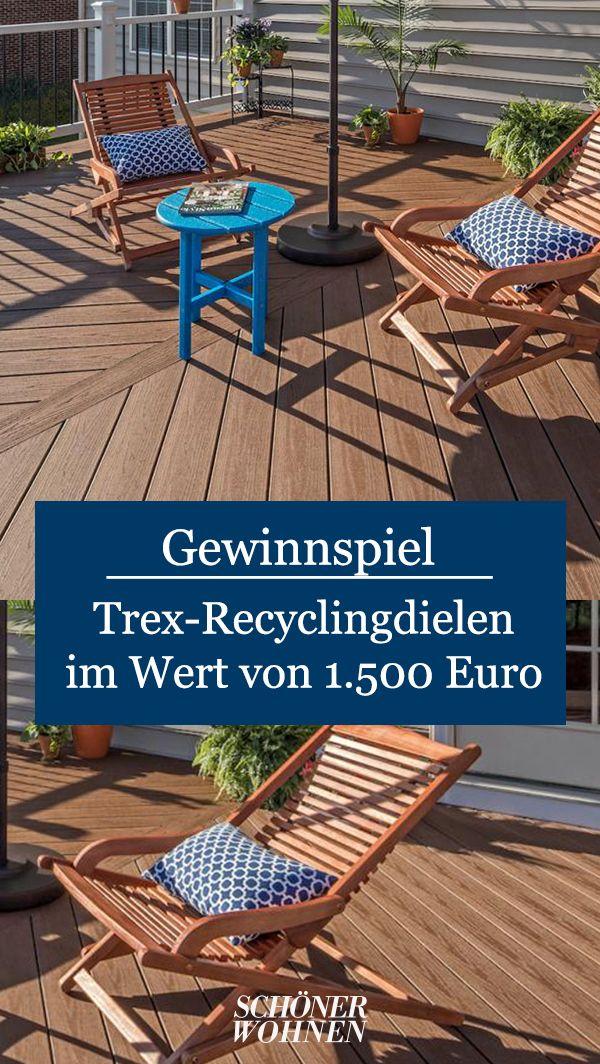 Trex Recyclingdielen Zu Gewinnen In 2020 Recycling Diele Terrassendielen