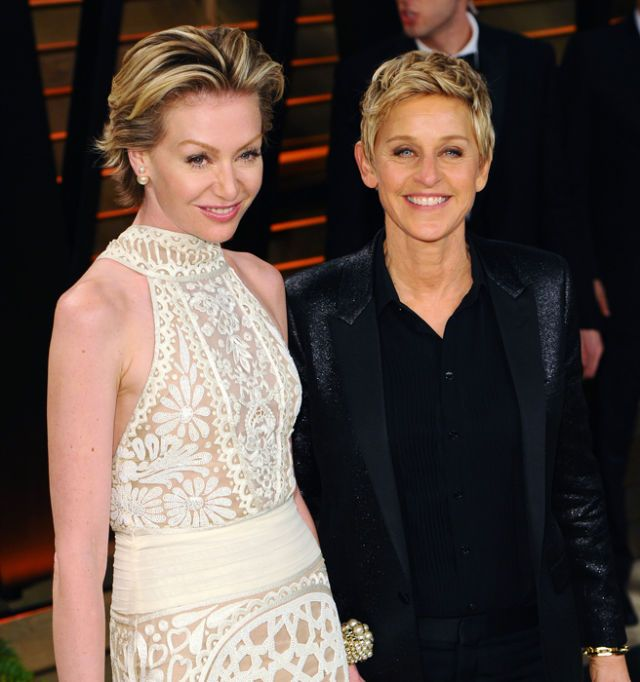 Portia De Rossi Wedding Hair: 114 Best Images About Ellen DeGeneres & Portia De Rossi On