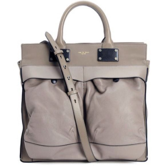 NWT Rag & Bone Large Pilot Bag Purchased this online from Rag & Bone, love it but have too many handbags! Stunning nude/beige color. Top handle and messenger. Comes with dust bag. rag & bone Bags