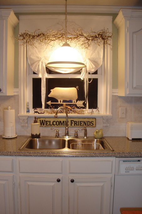 budget french country decorating our kitchen on a budget this kitchen is my dream - Ideas For Kitchen Curtains