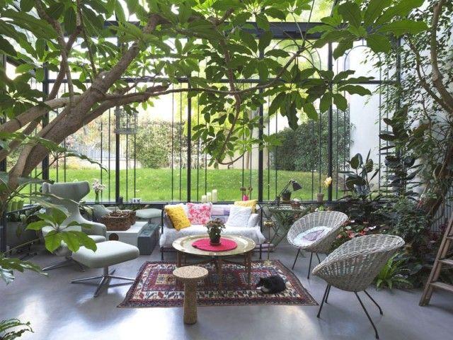 Un Jardin D Hiver En Plein Paris En 2020 Jardin D Hiver Veranda Jardin Jardins