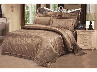 Постельное белье 2-спальное евро тёмная карамель