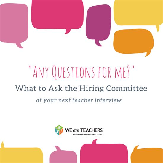 What to Ask at Your Next Teacher Interview