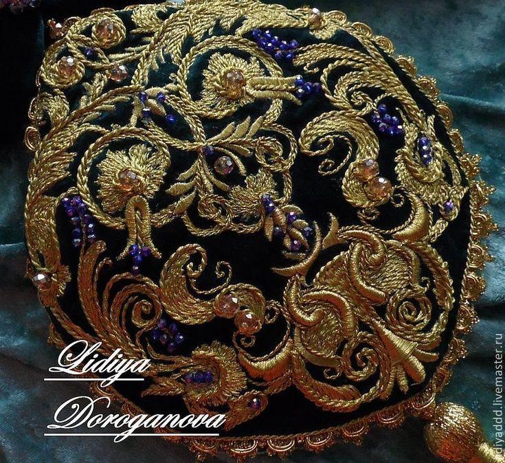 """Купить Сумочка """"Людовика"""" золотное шитье - золотой, орнамент, сумочка вечерняя, сумочка ручной работы"""