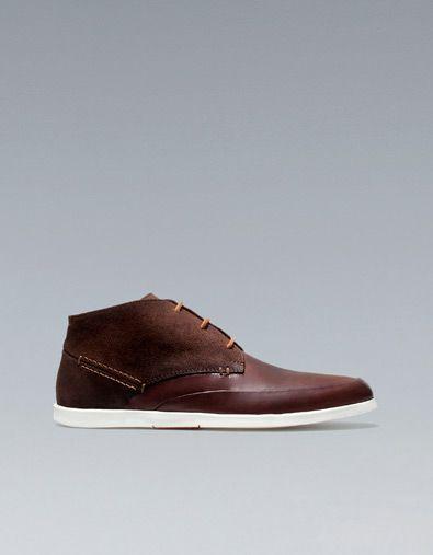 LEATHER CHUKKA BOOTS - Shoes - Man - ZARA