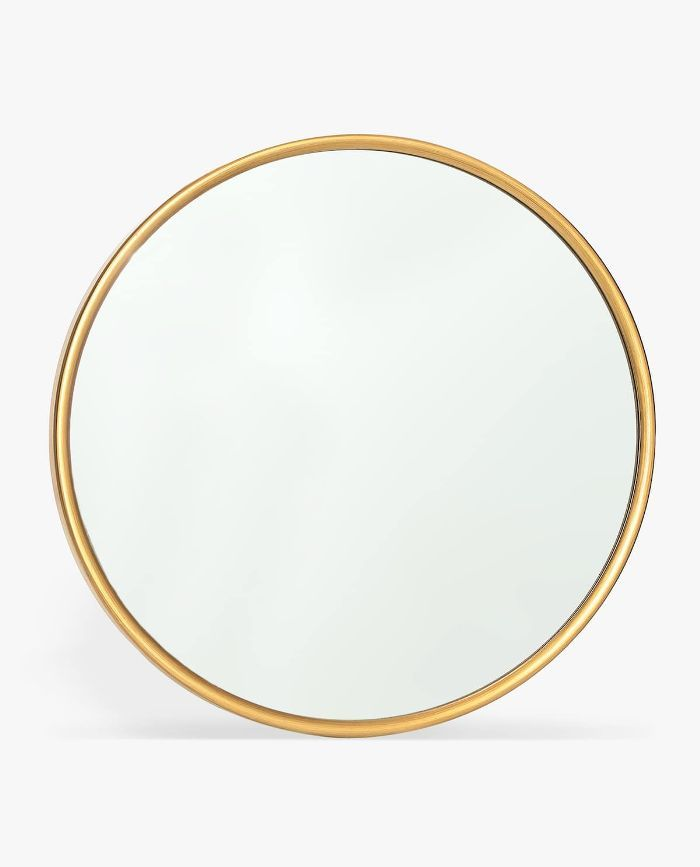 Cosmoliving By Cosmopolitan 7 Piece Round Gold Decorative Framed Mirror Set 97716 The Home Depot Decorating Mirror Frames Gold Mirror Wall Wall Mirrors Set