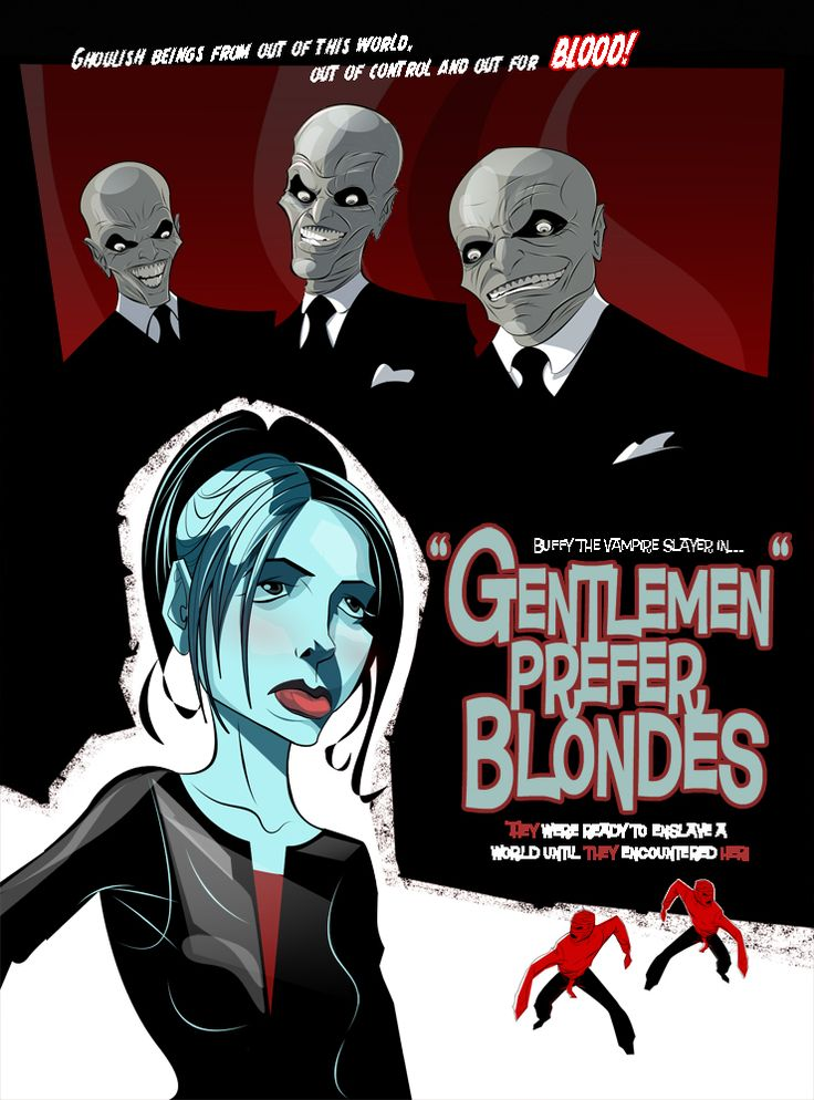 Hush! by ~rgclayboy: Favorite Episode, Hush All Time, Gentlemen Prefer Blondes, Hush Btvs, Deviantart Gallery, Rgclayboy, Hush Poster, Amazing Hush, Buffy Episode