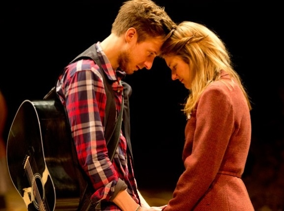 Arthur Darvill and Joanna Christie in Once.