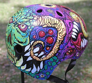 The DOODLES, DESIGNS, and aRT of CHRISTOPHER BURDETT: Derby Helmet