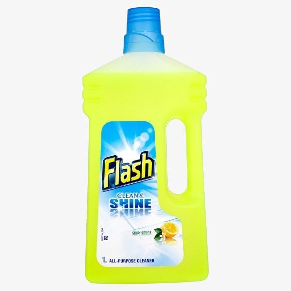 Flash Crisp Lemons All-Purpose Cleaner 1L of 6  All purpose cleaner with the great cleaning power of Flash. Flash Liquid Gel tackles the toughest household messes on and off the floor without one drop going to waste from effortlessly cleaning dried food stains and tough grease, to mopping the floors and making bathrooms sparkle - it is truly multi-purpose for all purposes.  Price: £13.39 Read here: http://goo.gl/nhRuJu